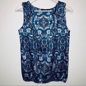 The Limited Abstract Print Tank Top Blouse